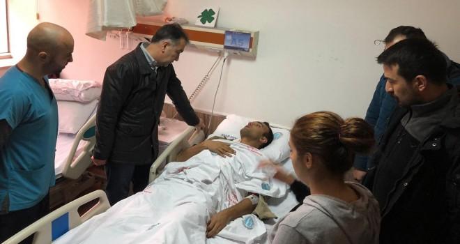 Vali Çağatay, yaralanan askerleri hastanede ziyaret etti