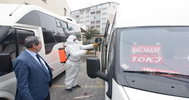Adilcevaz Belediyesi'nden dezenfekte çalışması