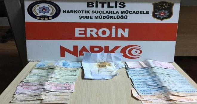 Bitlis'te uyuşturucu madde operasyonunda 1 kişi tutuklandı