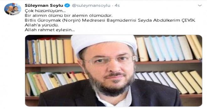 Süleyman Soylu; 'Çok hüzünlüyüm'