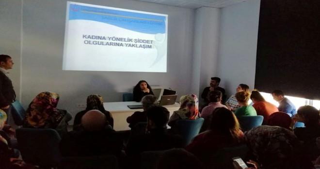 Tatvan'da 'Kadına Yönelik Şiddetle Mücadele' semineri verildi