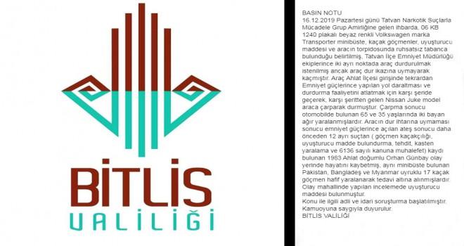 Bitlis Valiliği Basın Notu