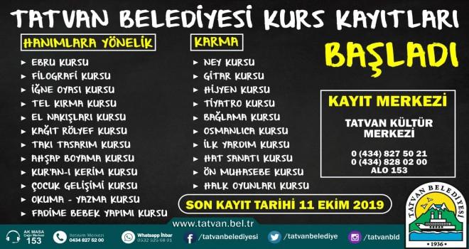 Tatvan Belediyesi 22 farklı kurs açacak