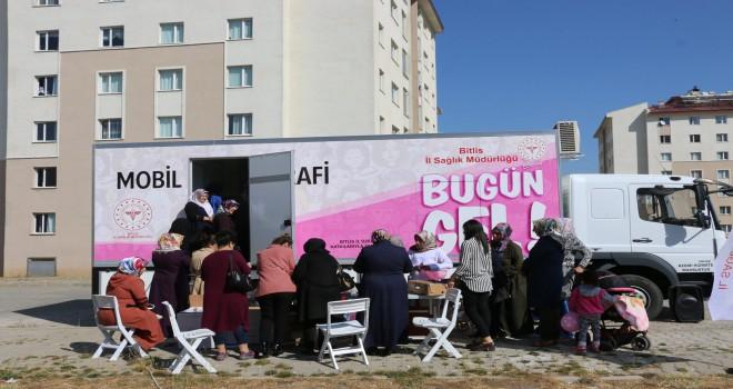 Bitis'te kadınlara ücretsiz kanser taraması yapıldı
