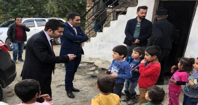 Kaymakam Köleoğlu, Gayda köyündeki ihtiyaç sahibi aileleri ziyaret etti