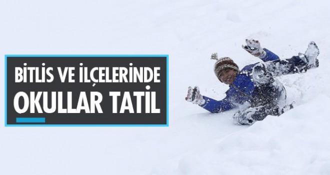 Bitlis ve ilçelerinde okullar tatil edildi