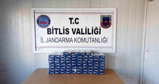 Adilcevaz'da 380 karton kaçak sigara ele geçirildi