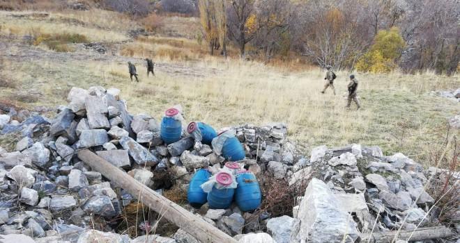 Bitlis'te terör örgütüne ait malzeme ele geçirildi