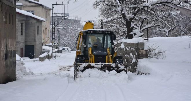 Tatvan Belediyesi karla mücadele çalışmaları