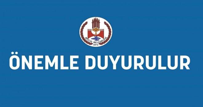 Bitlis Belediyesi kira ödemelerini 3 ay erteledi