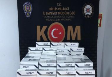 Bitlis'te 1970 paket kaçak sigara ele geçirildi