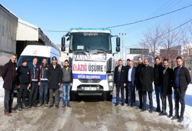 Bitlis'ten Elazığ'a yardım yola çıktı
