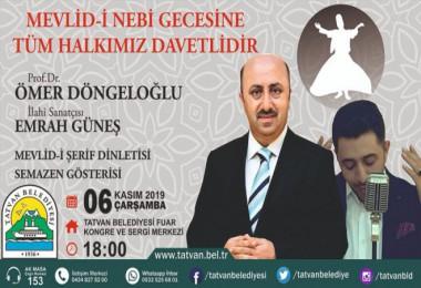 Tatvan Belediyesi Mevlid-i Nebi Gecesi düzenleyecek