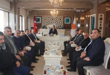 Başkan Mümtaz ÇobanAK Parti teşkilatını ağırladı