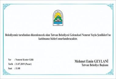 Tatvan'da Nemrut Şenliği düzenlenecek