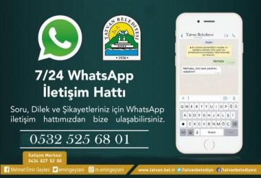 Tatvan Belediyesi'nden WhatsApp İhbar Hattı