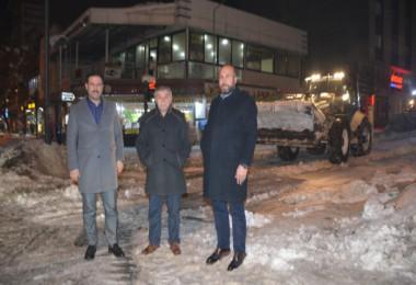 Tatvan'da karlar yerleşim alanı dışına taşınıyor