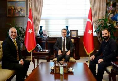 Anadolu Ajansı temsilcilerinin Vali Çağatay ziyareti
