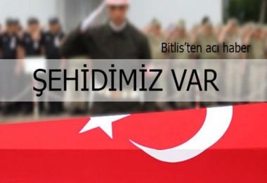 Bitlis'teki hain saldırıda binbaşı şehit oldu