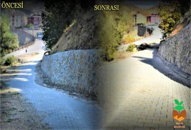 Mutki'deki bazı mahallelerde üstyapı çalışmaları tamamlandı