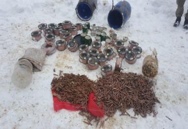 Bitlis'te çok sayıda mühimmat ve malzeme ele geçirildi