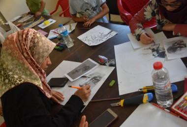 Bitlis Belediyesi tarafından açılan resim kursu büyük ilgi görüyor