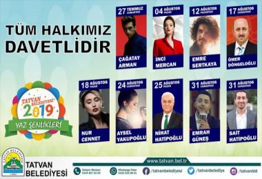 Tatvan'da 27 Temmuz - 31 Ağustos tarihleri arasında Yaz Şenlikleri yapılacak