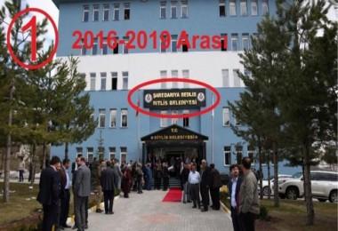Bitlis Belediyesi'nden 'tabela' açıklaması