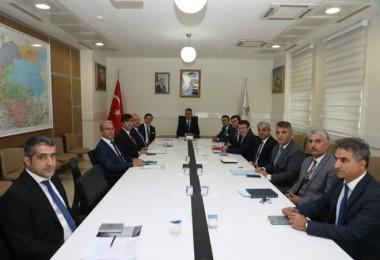 Vali Çağatay başkanlığında, KÖYDES değerlendirme yapıldı