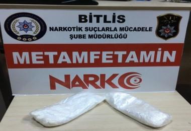 Güroymak'ta şüpheli araçta 451 gram uyuşturucu ele geçirildi