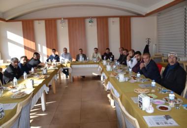 Can Hastanesi yönetimi, Tatvan'daki gazeteciler ile bir araya geldi
