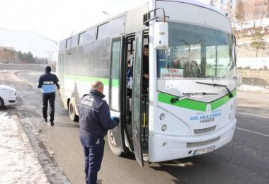 Bitlis'te toplu taşıma araçları denetledi