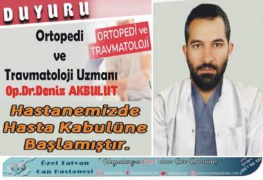 Ortopedi Uzmanı Akbulut Can Hastanesi'nde hasta kabulüne başladı