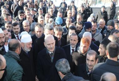 Bakanı Soylu, Şeyh Çevik'in taziyesine katıldı