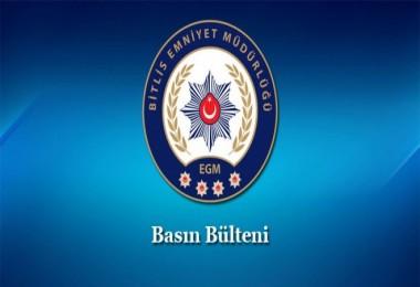 Bitlis'te hapis cezası bulunup aranmakta olan şahıs yakalandı