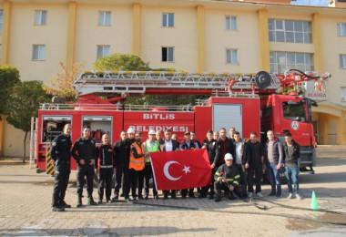 Polis adaylarına yangın tatbikatı yapıldı