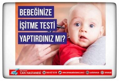Bebeklerin işitme tarama testi Can Hastanesi'nde yapılıyor