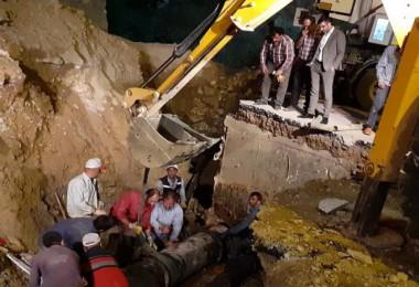 Bitlis'te su şebekesi ana isale hattında patlama meydana geldi