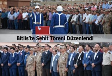 Şehit Binbaşı Zafer Akkuş için Bitlis'te tören düzenlendi