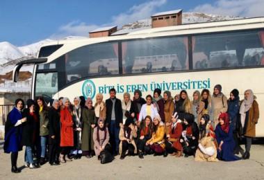 Uzaktan eğitim öğrencileri Bitlis'i gezdi
