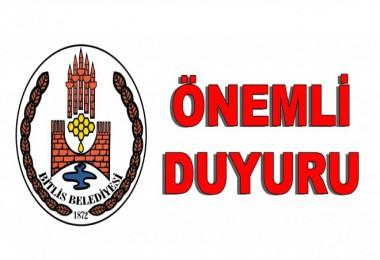 Bitlis'teki bazı yollar Cumartesi ve Pazar günü trafiğe kapalı olacak