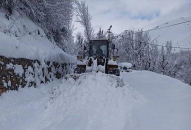 Kar kalınlığı Bitlis'te 2 metreye ulaştı
