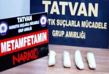 Tatvan'da 1 kilo 19 gram uyuşturucu ele geçirildi