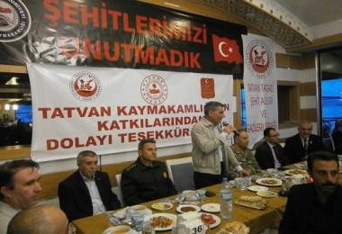 Kaymakam Özkan şehit ve gazi yakınlarıyla iftar yaptı