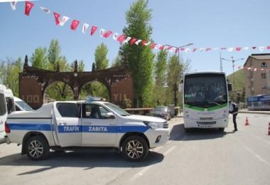 Bitlis'te şikayetler üzerine halk otobüsleri denetlendi