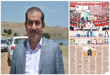 Milletvekili Cemal Taşar, 2019 yılının en başarılıvekilleri listesinde