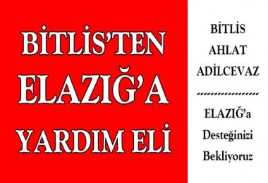 Bitlis ve ilçelerinden Elazığ'a yardım eli
