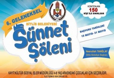 Bitlis Belediyesi toplu sünnet şöleni gerçekleştirecek