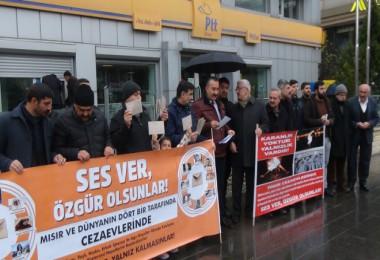 Mısır hapishanelerindeki insanlar için Bitlis'te basın açıklaması yapıldı