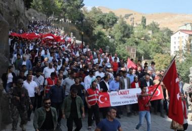 Bitlis'te Teröre Lanet Yürüyüşü düzenlendi